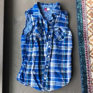 Plaid T-shirt vest!